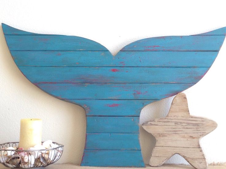 Sale, Over-sized Rustic Finish Wood Whale Tail, Pallet Decor, Pallet whale, Wood Beach Decor, whale fluke by NCSustainableStyle on Etsy