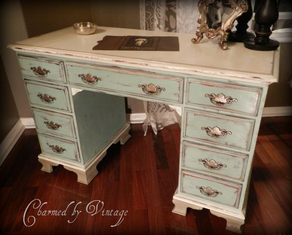 Paris French Cottage Shabby Chic Desk RESERVED by CharmedByVintage