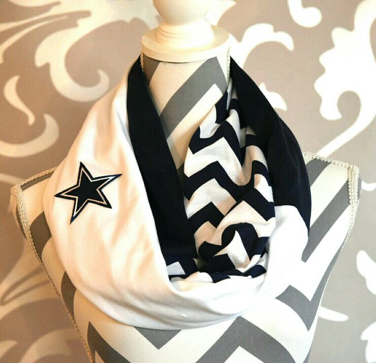 Dallas Cowboys infinity scarf with embroidered NFL logo. The perfect accessory…