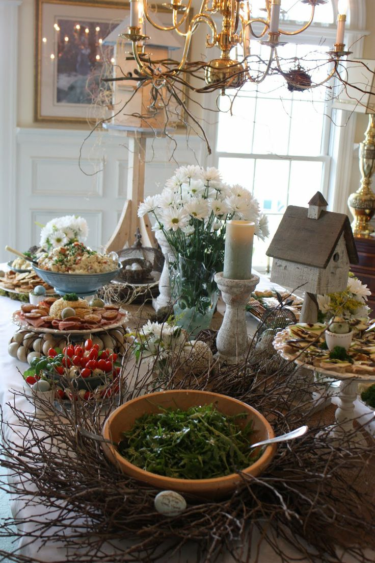 30 best buffet table setting images on pinterest