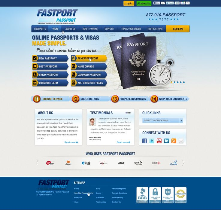 FastPort Passport - Website by DecoGr@f!x