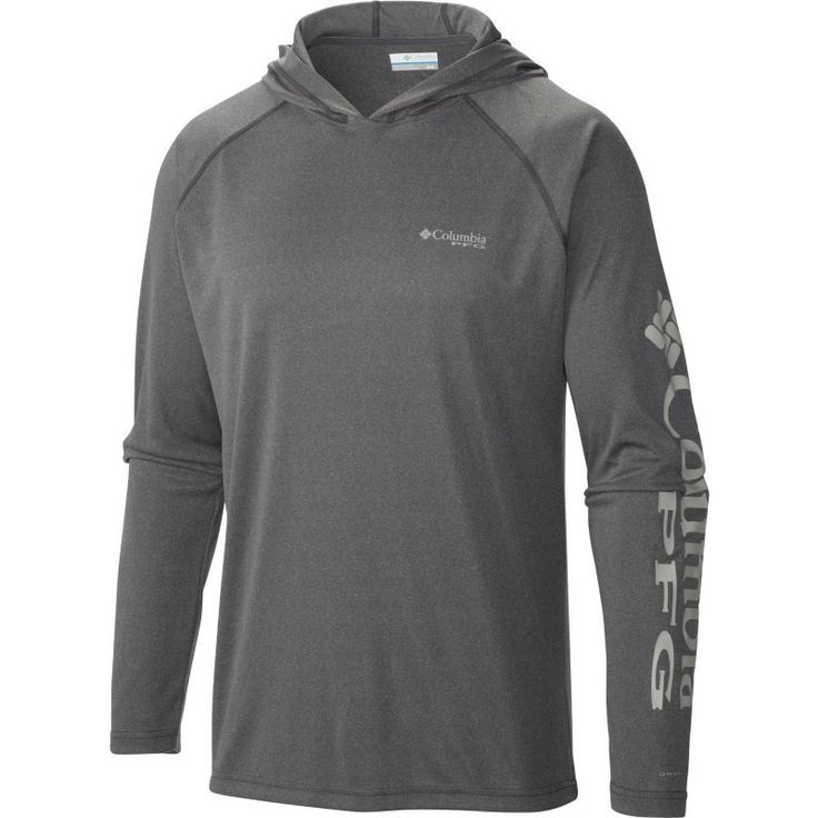 Columbia Men's PFG Terminal Tackle Hoodie, Size: XL, Charcoal Gry Hthr/Cool Gr