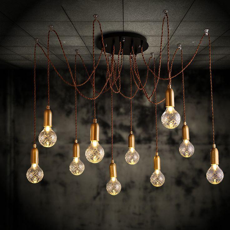 Les 454 meilleures images du tableau ceiling lights fans for Lustre ampoules suspendues