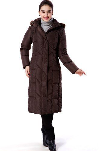 Hot Product Today  BGSD Women's Long Hooded Down Parka Coat with Faux Fur Trim – Brown Large