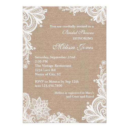 236 best vintage bridal shower invitations images on pinterest, Wedding invitations