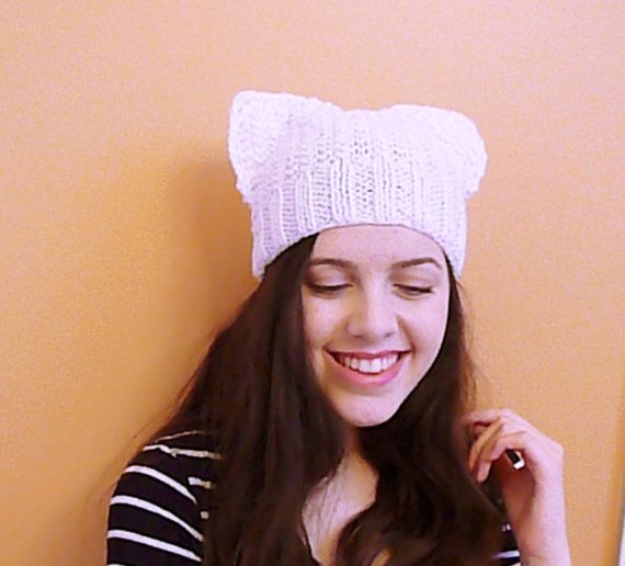 Hey, I found this really awesome Etsy listing at https://www.etsy.com/listing/215348129/white-cat-hat-ear-beanie-knit-ear-hat