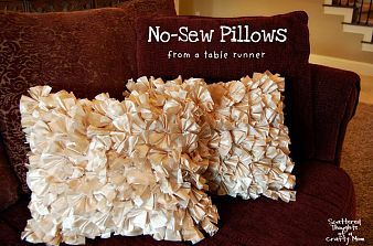 Hometalk :: Even if you don't sew, you can make cute pillows. I stumbled across th…