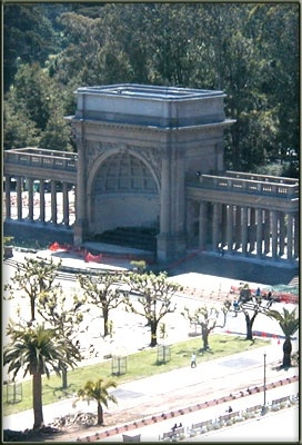 The Bandshell At Golden Gate Park Is Located Between The