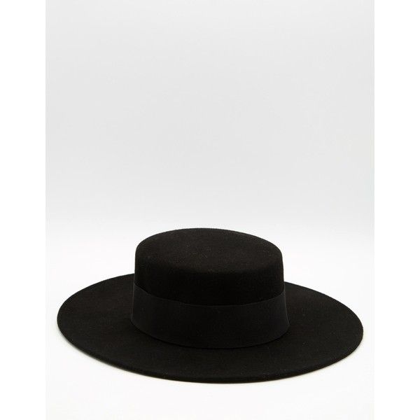 Catarzi Flat Top Wide Brim Hat ($61) ❤ liked on Polyvore featuring men's…