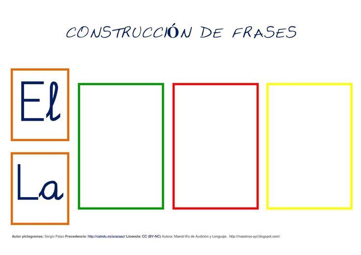 Autor pictogramas: Sergio Palao Procedencia: http://catedu. es/arasaac/ Licencia: CC (BY-NC) Autora: Maestr@s de Audición y Lenguaje. http://maestros-ayl. blogspot. com/ CONSTRUCCICONSTRUCCICONSTRUCCICONSTRUCCIÓN DE FRASESN DE FRASESN...
