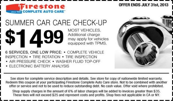 Firestone tune up coupons