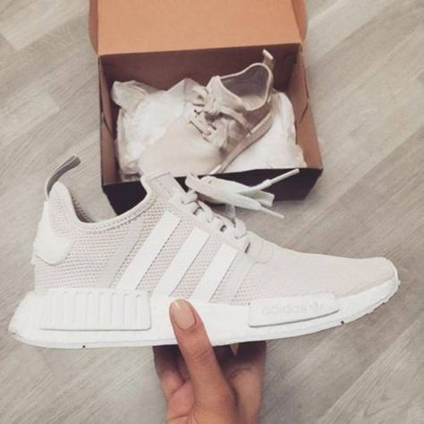 """Women """"Adidas"""" Fashion Trending Beige And Gray Leisure Running Sports Shoes"""