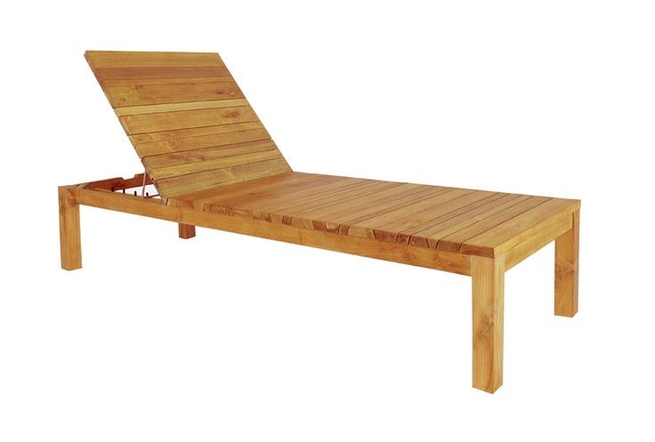 Mazzamiz wooden sun lounger outdoor furniture for Cedar chaise lounge