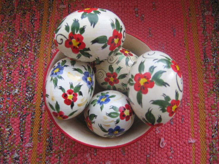 Wooden Painted Russian Easter Eggs by RussianStore on Etsy