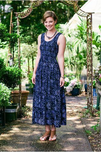 Bonjour Batik Maxi Dress | Indonesia | shopgofish.com