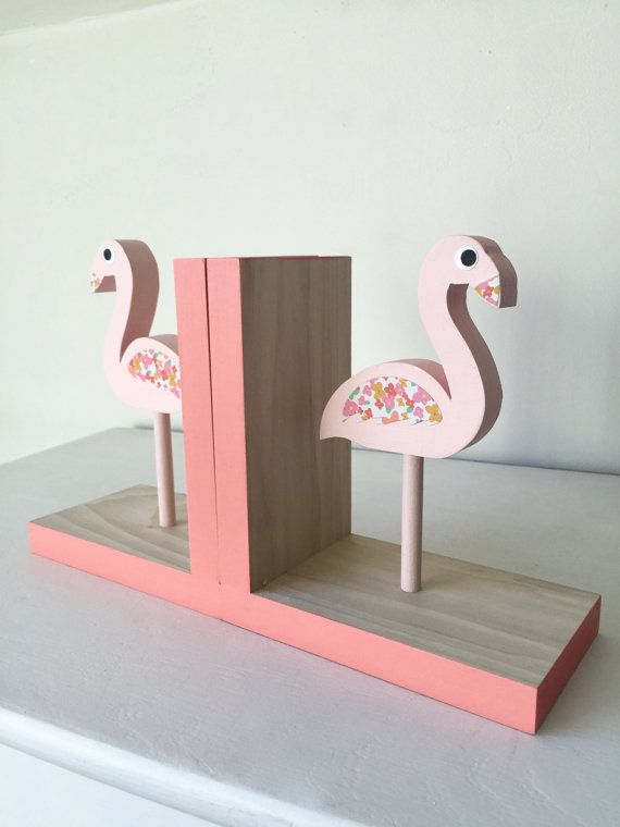 Flamingo Bookends Children Bookends Pink by MapleShadeKids on Etsy