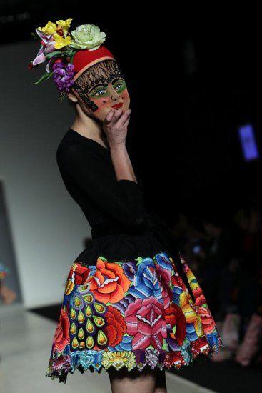 Meche Correa - embroidered skirt, ethnic, Peru