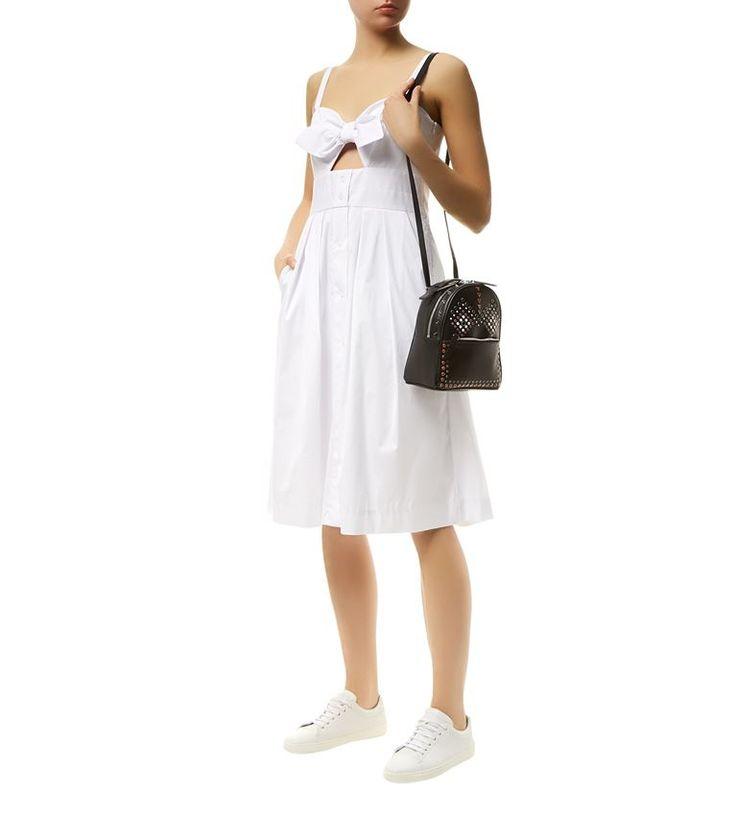 Women: Summer Dresses Milly Jordan Bow Detail Cut-Out Sun Dress