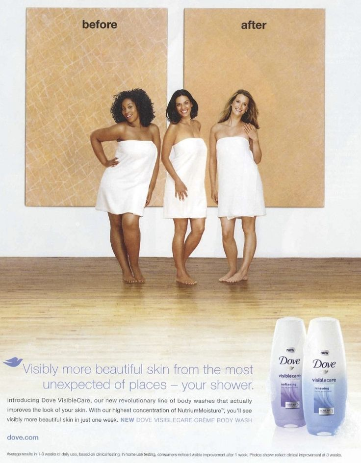 From the advertisement above, the first thing I focus on the shift of colour of the skin from black to white. And the next thing i saw was dove. This is my observation from first sight before reading it and could be the same for most of the ads audience. Although this ad is not about being more brighter, is to look younger, the order of the placement of the colour skin suggest otherwise.