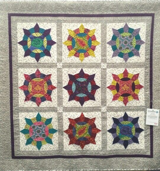 As seen at Quilt NSW 2016 Show, Jann's version of my Fresh Fraise quilt, using my MM101 Strawberry Template Set.