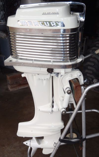 vintage 40 hp mercury outboard   Antique Merc 400 45hp Mercury Outboard For Sale