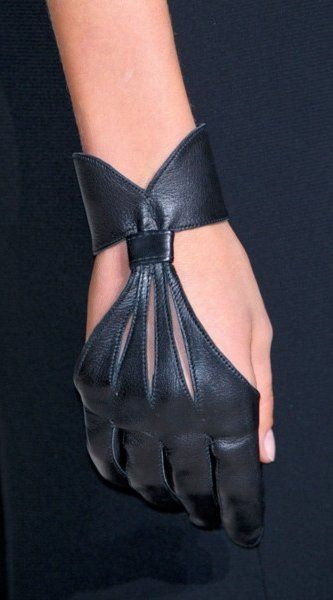 Beautiful leather archer's glove
