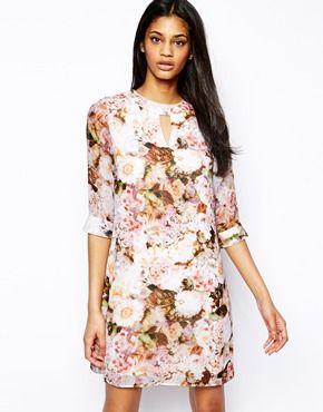 Image 1 ofLittle Mistress Floral Shift Dress