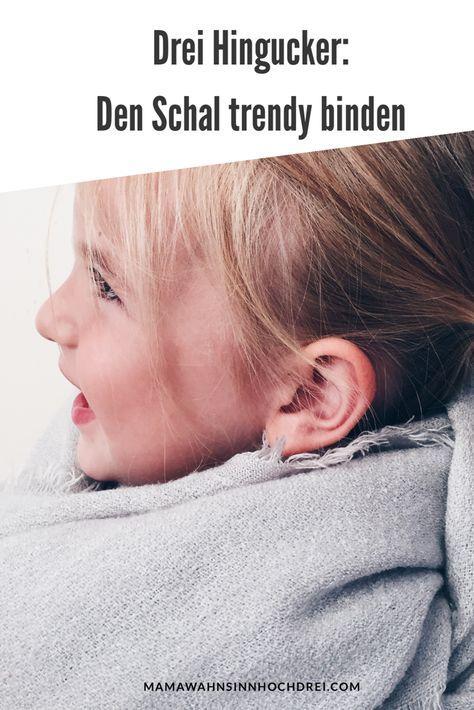 Den Schal trendig binden, easy und leicht, drei Hingucker