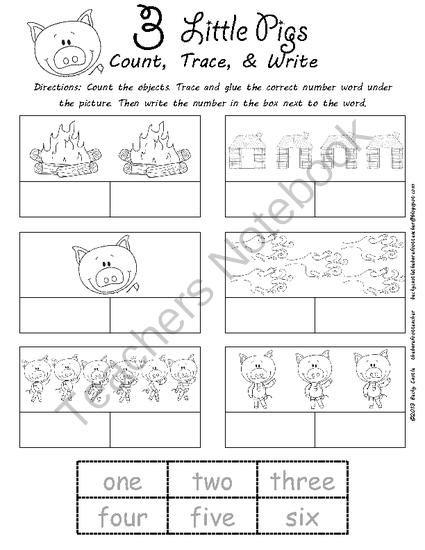 math worksheet 3 little pig math best free printable worksheets. Black Bedroom Furniture Sets. Home Design Ideas