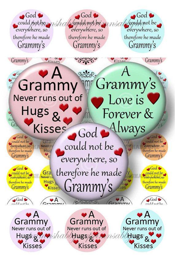 Grandma Sayings Bottle Cap Images Grammy Digital Collage