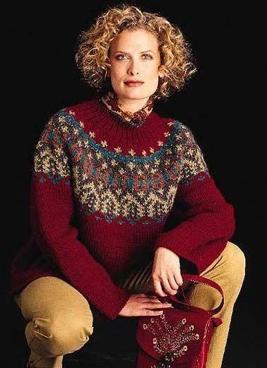 Свитер с круглой кокеткой.  свитеры