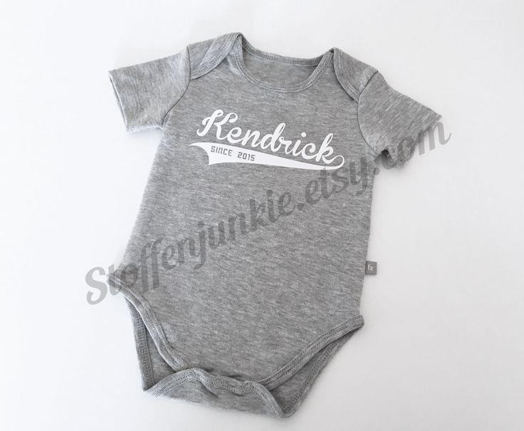146 best stoffenjunkie creations images on pinterest newborn baby custom name bodysuit boys bodysuit with name personalized bodysuit stylish negle Choice Image