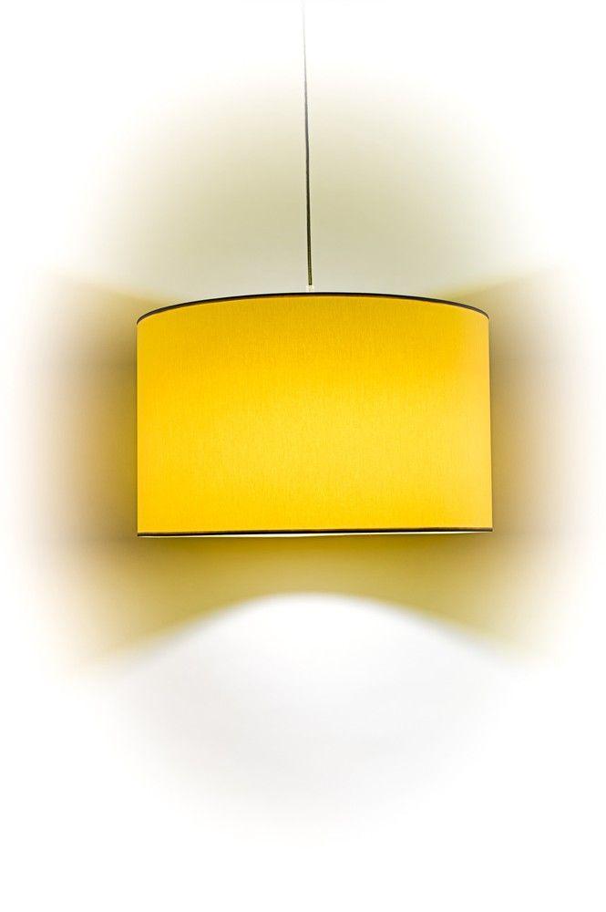 Závěsné lampy : Stínidlo válec 50x30cm žlutá