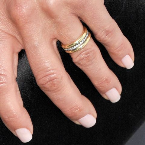 Jennifer Aniston showed off her new wedding ring, designed by Jennifer Meyer Jewelry, at the premiere of She's Funny That Way.