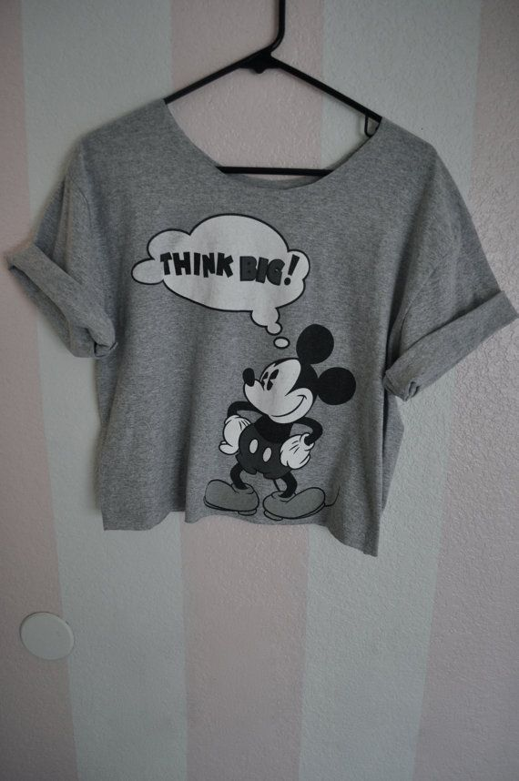 THINK BIG mickey mouse disney t-shirt. $15.00, via Etsy.