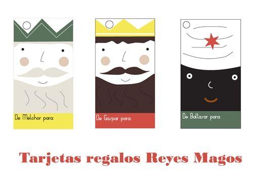 reyes magos tarjetas regalo Descargables de los Reyes Magos