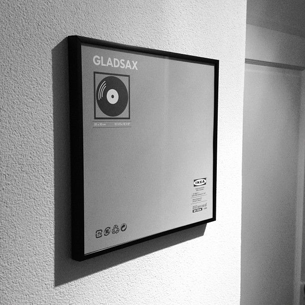 great picture frame for lp 39 s gladsax from ikea only 5 95 vinyl into interiors pinterest. Black Bedroom Furniture Sets. Home Design Ideas