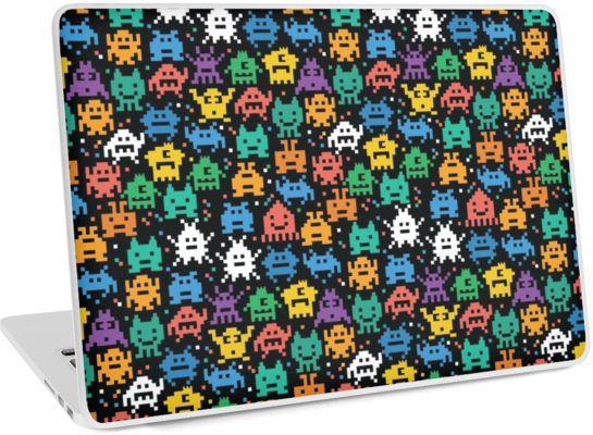 "Pixelated Emoji Monster Pattern Illustration by Gordon White | Emoji Monster PC Laptop 13"" Laptop Skin Available @redbubble --------------------------- #redbubble #emoji #emoticon #smiley #faces #cute #addorable #pattern #laptop #skin #laptopskin #macbook"