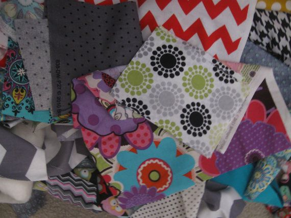 50 Fabric scraps pieces for quilting sewing doll by MILKYBABY50, $3.55