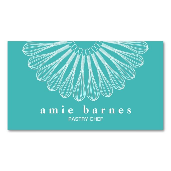 Catering Pastry Chef Whisk Logo Bakery Double-Sided Standard Business Cards (Pack Of 100). Make your own business card with this great design. All you need is to add your info to this template. Click the image to try it out!