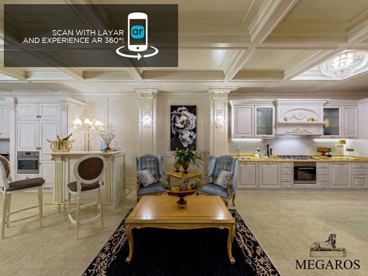 Augmented Reality Advertising with 360° interactive tour using @Layar  for @megaros, Italian brand of handcrafted luxury classic interiors.