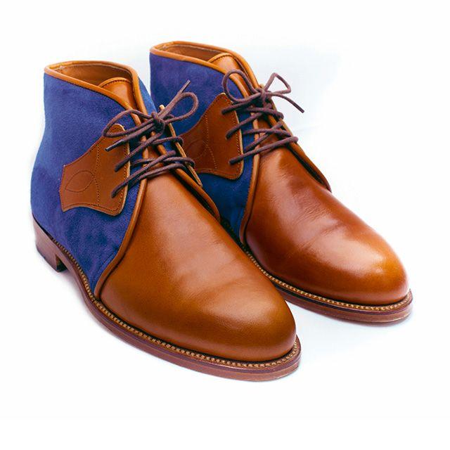 TOOGOO (R) NUEVOS zapatos de gamuza de cuero de estilo europeo oxfords de los hombres casuales Azul(tamano 38) CfHKTsR