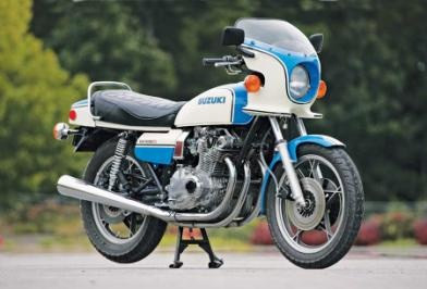 1979 Suzuki GS1000S just like mine!   Well,  mine was in fact my brothers and it was black and didn't have the bikini fairing, but other than that... just like mine