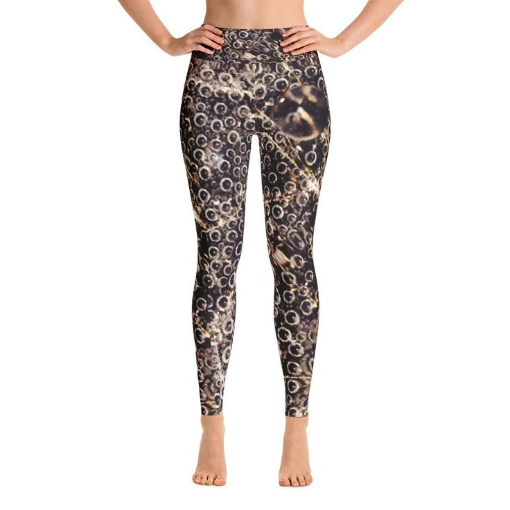 Super soft, stretchy and comfortable yoga leggings. Made with love in LA. • 82% polyester/18% spandex • Imported fabric that's printed, hand cut, and sewn in the USA • Material has a four-way stretch, which means fabric stretches and recovers on the cross and lengthwise grains. • Made with a smooth, comfortable microfiber yarn • Inner pocket • Raised waistband