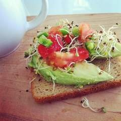 @Margaux Drake the WOTV 4 Women expert for healthy eats. She is currently running a detox program at our Grand Rapids location. Check out this recipe for California Loaded Toast, perfect before long training runs!