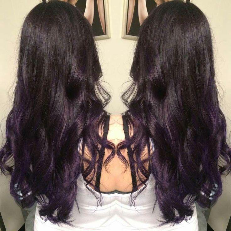 Cabello Teñido, Belleza, Pelo Púrpura Sutil, Ciruela Pelo, Barrido De La Sombra, Pelo Oscuro, Pelo No Hacer, Pelo, Brown To Purple Balayage