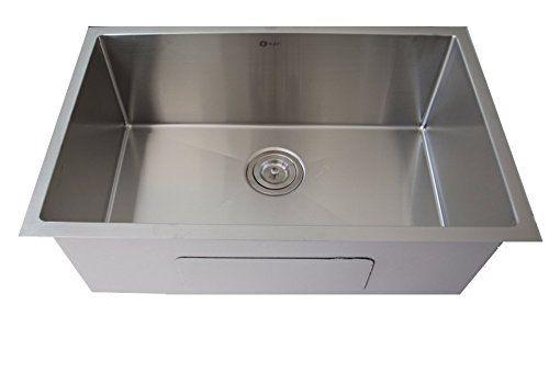 28-Inch Undermount Single Bowl Kitchen Bar Sink with 10mm...…