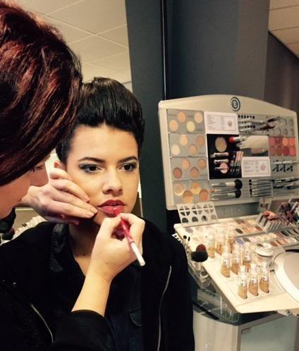 Make-up verzorgd voor Mode Flits bij De Tijden Vrouwengoed! Mooie modellen en schitterende kleding! #puur #tleclerc