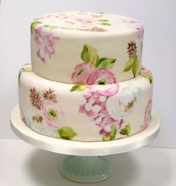 265 best Hand painted cakes images on Pinterest | Petit fours ...