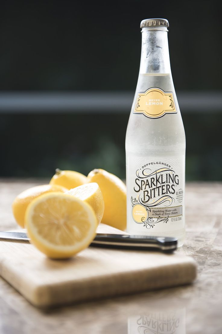 Sparkling Bitters Water, MEYER LEMON
